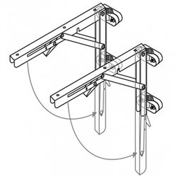 Stainless steel brackets with nylon fixing brackets