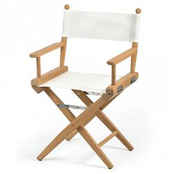 Directors chair white canvas