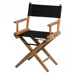 Directors chair Black canvas
