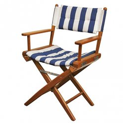 Directors chair Navy/White Deluxe