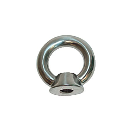 Stainless steel mooring eyes.