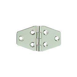 Stainless steel flush hinge, mirror polished finish