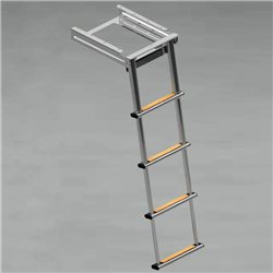 Foldaway telescopic ladder