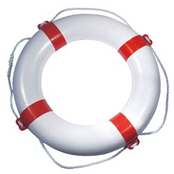 Lifebuoy with red coloured bands