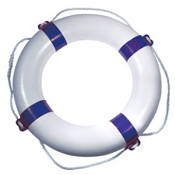 Lifebuoy with blue coloured bands