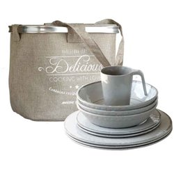 Tableware pack 6 people BALI