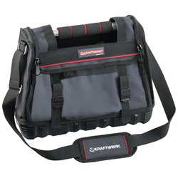 Heavy duty tool bags with steel handle