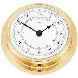 Polished brass clock NAVIGATOR Ø200