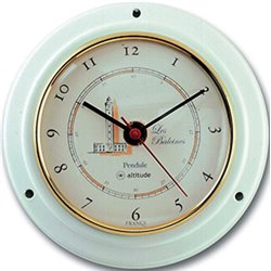 Quartz clock white lacquered