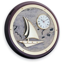 Clock with galleon