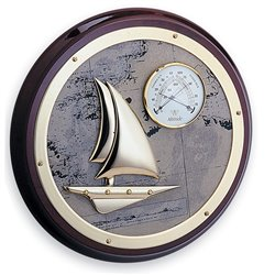 Thermometer-hygrometer with galleon