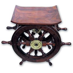 Wooden wheels table
