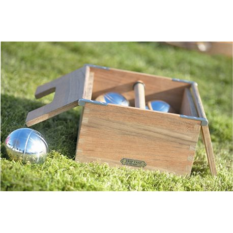 Wooden box with bowls