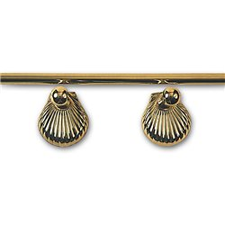 Brass towel rail with shells