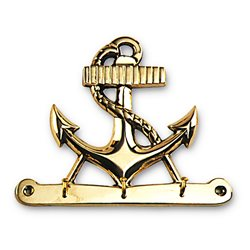 Brass anchor key hook
