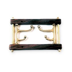 Double brass coat hooks