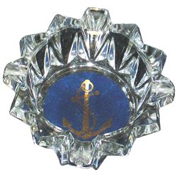 Glass ashtray with anchor