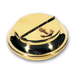 Brass ashtray with anchor
