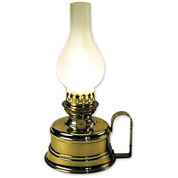 Electric brass lamp