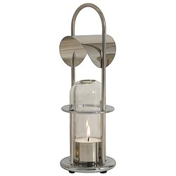 Tealight lamp - polished stainless steel