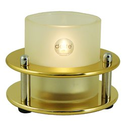 Tealight lamp - polished lacquered brass