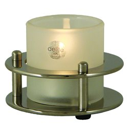 Tealight lamp - polished stainless stee