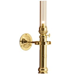 Polished brass lamp E14-230V
