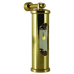 Thermometer & suspension - polished brass