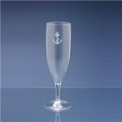Box of 4 glasses flutes champagne in policarbonate 17cl, anchor decorum