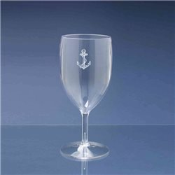 Box of 4 glasses water in policarbonate 25cl, anchor decorum