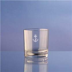 Box of 4 glasses (water / whiskey) in policarbonate 25cl, anchor decorum